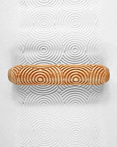 Ceramic Wood Hand Rollers, Pottery Texture Roller, Clay Pattern Stick, Moon Ripples