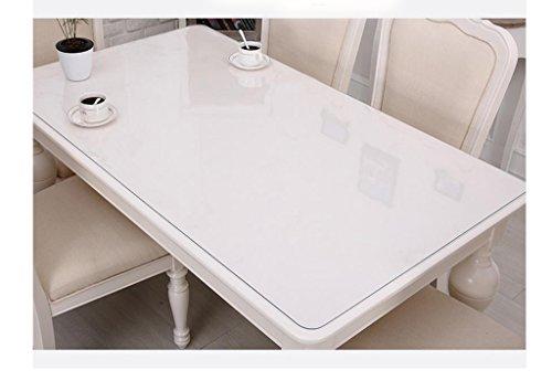 Transparent 1.0mm 70130cm Nappe de cuisine Tissu de table en PVC Transparent en verre doux, imperméable et étanche à l'huile (Couleur   Transparent 1.0mm, taille   70  130cm)