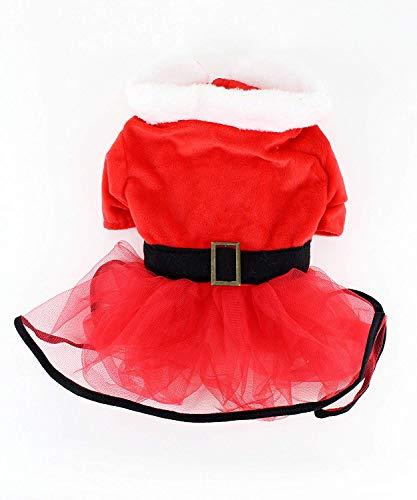 Midlee Mrs. Claus Santa Tutu Dog Dress (Large)