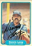 Autograph Warehouse 69971 Dennis Lamp Autographed Baseball Card Chicago White Sox 1982 Fleer No. 349