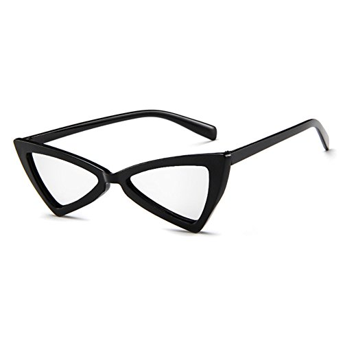 Personality Sun proof Glasses Hzjundasi Glasses Style Cat Non Eye Glare MOD Noir intensity Retro Series Triangle Blanc OP8Tq4Ow