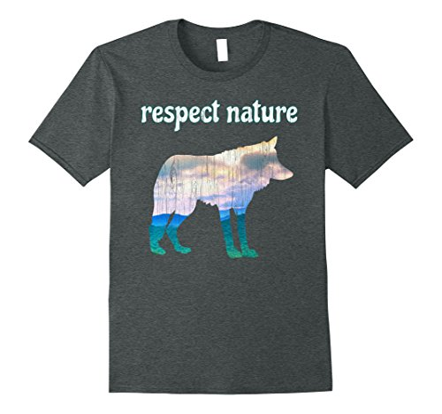 Mens Respect Nature Environmental Conservation T Shirt Small Dark Heather