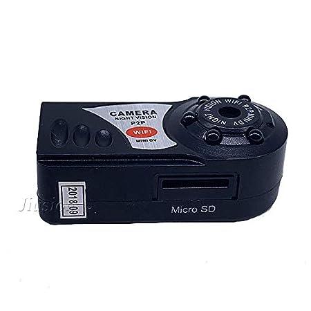 Amazon.com : q7 WiFi Mini Camera 5 Infrared Night Vision 480p Wireless IP p2p Camcorder with dv dvr Digital Audio Video Recorder Mirco cam : Camera & Photo