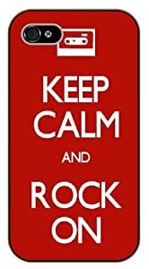 iPhone 4 / 4s Keep Calm and rock on - black plastic case / Keep Calm, Motivation and Inspiration, vintage