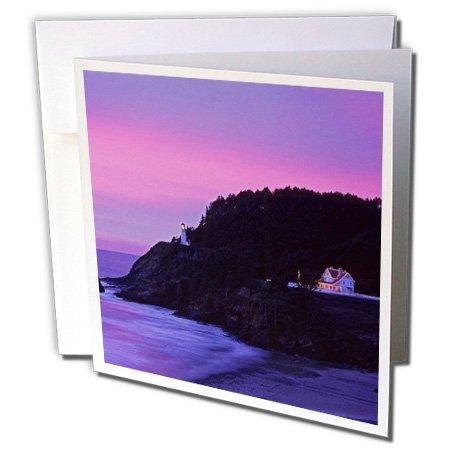 3dRose Danita Delimont - Oregon - Oregon, Heceta Head Lighthouse, Bed Breakfast Inn - US38 BJA0132 - Jaynes Gallery - 12 Greeting Cards with envelopes (gc_93463_2) (Christmas Office Invitation Breakfast)