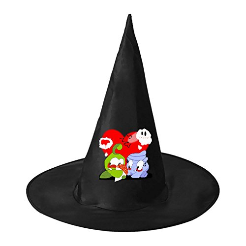 RRUH Halloween Black Witch Hat-My om (Cut The Rope Om Nom Costume)