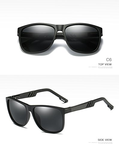 para Mujer C3 Polarizadas 400 Hombre Aviator UV Protección C1 para Gafas De Sol Yq7XO