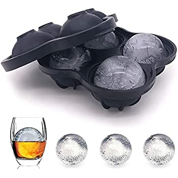 New Version Ice Ball Maker Mold with Funnel Inlets, 1.8