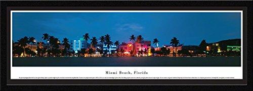 Blakeway Worldwide Panoramas Miami, Florida-South Beach-Blakeway Panoramas Icon Posters with Select Frame, Single Mat