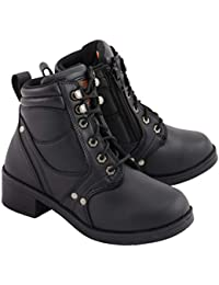 MBK9265 Boys Black Lace-Up Boots with Side Zipper Entry - 2