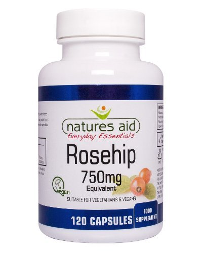 Natures Aid Rosehip Vegicaps 750mg Pack of 120 by Natures (Natures Aid Rose)
