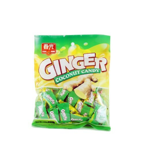 Chun Guang GINGER COCONUT CANDY - 4 x 5.6 oz / 4 x 160 g - From the Hometown of Coconuts. Hainan Island, - Town Coconut