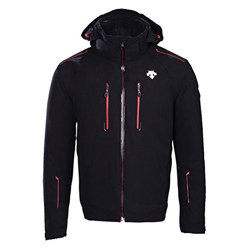 Descente Mens Rogue Jacket (Black/Electric Red) (Descente Black Jacket)