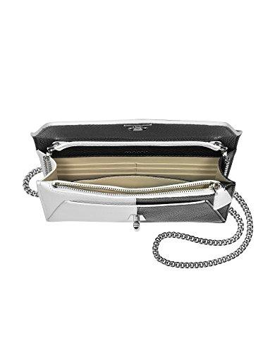 Akris Borsa A Spalla Donna ANOUK1950PA900199 Pelle Bianco/Nero