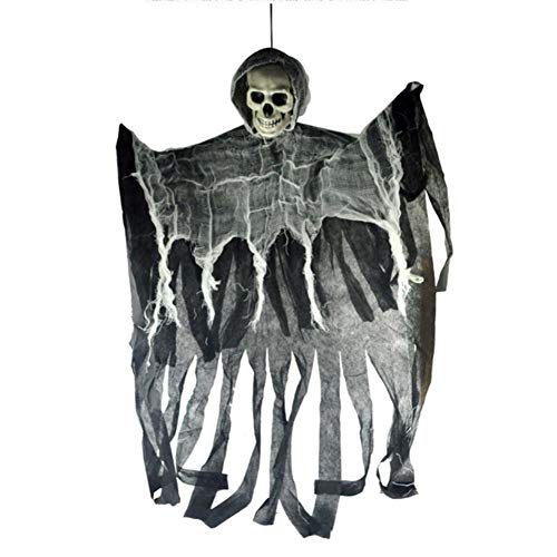 Cheapest Halloween Animatronics (Professional Halloween Hanging Ghost Haunted House Grim Reaper Horror Props Home Door, Halloween Hanging Decor - Scary Halloween Door Decorations, Hanging Halloween Props, Haunted in Halloween)