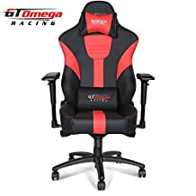 GT Omega MASTER XL Racing Office Chair Black and Red Leather Esport Gaming seat