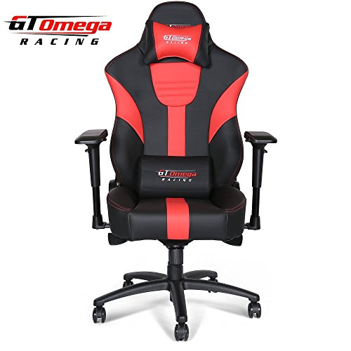 GT Omega MASTER XL Racing Office Chair Black and Red Leather Esport Gaming seat Review