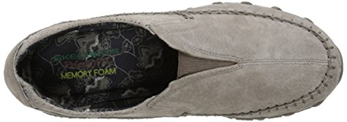 Skechers Womens Bikers Freeway Memory Foam Slip-On Loafer Dark Taupe
