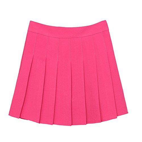 Motif Courte Pour Belle Court Femme Plisses Rose Beau Jupe Jupes UP77qnwXv