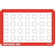 Bakeitfun Silicone Macaron Baking Mat, One Standard Size Sheet With 28 Macaron Spaces, Non-stick Multipurpose Kitchen Tool, Microwave And Dishwasher Safe, For Professional And Home Use, Red