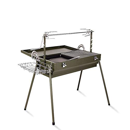 Charcoal Grill Barbecue Barbecue Charcoal Grill Folding Portable BBQ Tool Camping Cooking Grill Indoor Outdoor Picnic…