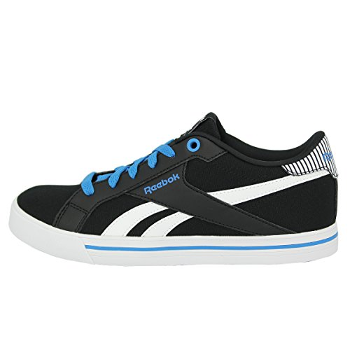 Reebok Royal Comp Low Cvs, Zapatillas de Tenis para Niños Negro / Azul / Blanco (Black/Electric Blue/White)