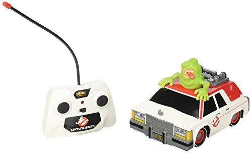 NKOK Ghostbusters RC Ecto-1 with Glowing Slimmer Vehicle