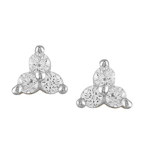 Giantti 14 carats Diamant pour femme Boucles d'oreille à tige (0,27 CT, VS/Si-clarity, Gh-colour)