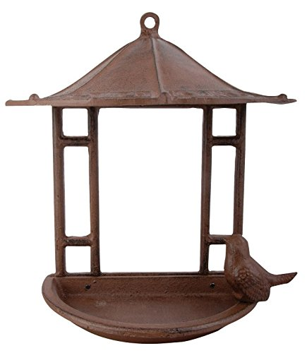 Esschert Design USA FB203 Cast Iron Wall Mount Bird Feeder