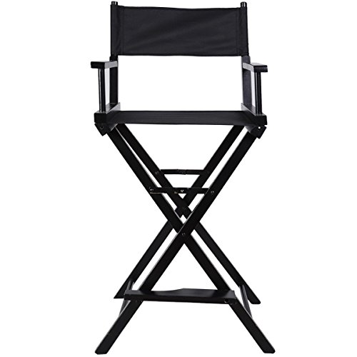 Apontus Professional Makeup Artist Directors Chair Wood Light Weight Foldable Black New by Apontus