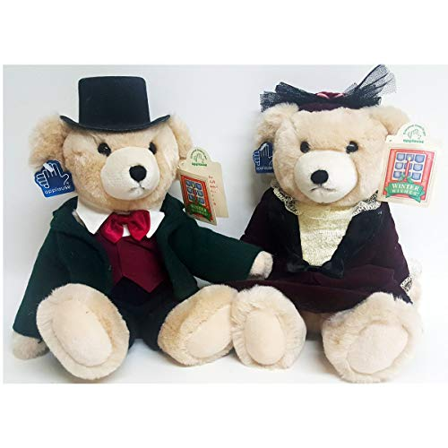(Applause Winter Wishes Charles & Olivia Winthrop Husband Wife Jointed Victorian Teddy Bear)