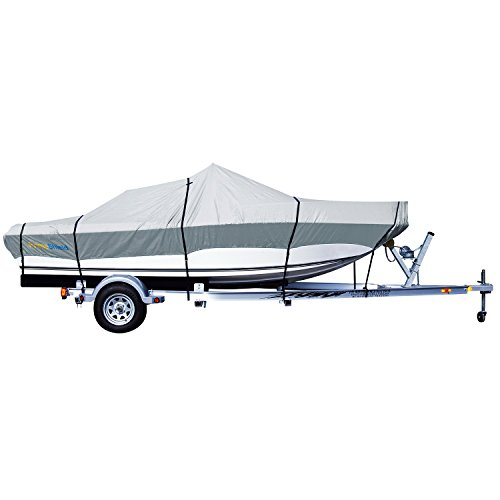 PrimeShield Heavy Duty Boat Cover 300D Waterproof for V-Hull Runabouts 14' - 16' Length up to 90