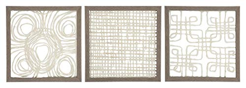 - Ashley Furniture Signature Design - Odella Abstract Framed Sculpture Wall Art - Contemporary - Cream/Taupe