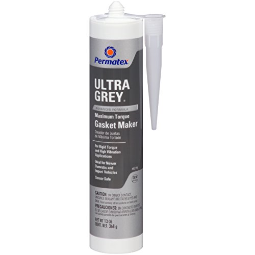 - Permatex 82195 Ultra Grey Rigid High-Torque RTV Silicone Gasket Maker, 13 oz.