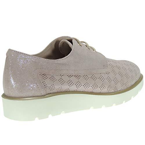 Plataforma D'alvaro 2802 Ocasional Blucher Rosa Antideslizante Llano Zapato Piel Mujer Picado Cordones pUOwOqHf