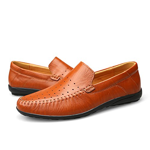 Insun Mens Leer Instappers Loafers Bootschoenen Tan Winter Wintip