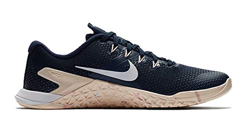 NIKE Women's Metcon 4 Running Shoe Obsidian/White/Guava Ice/Storm Pink