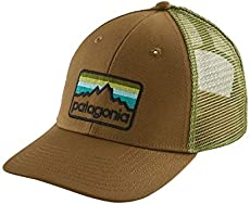29af09c95b9 Patagonia Line Logo Badge LoPro Trucker Hat (Coriander Brown)