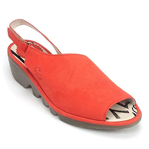 FLY London Palp Leather Wedge Sandal, 38, ()