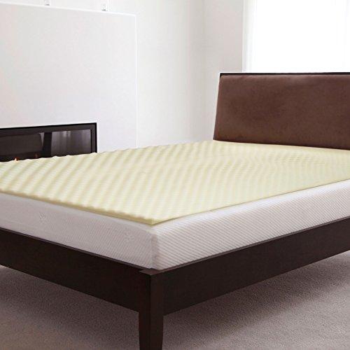 Lavish Home Natural Pedic 1 inch Thick Comfort Foam Mattress Topper, Hypo-Allergenic, Twin