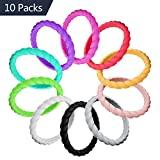 LUNIQI 10 Pack- Silicone Wedding Ring For women, Braided Thin and Stackable Durable Rubber Safe Band For Love, Couple, Souvenir and Outdoor Active Exercise Style For Sale