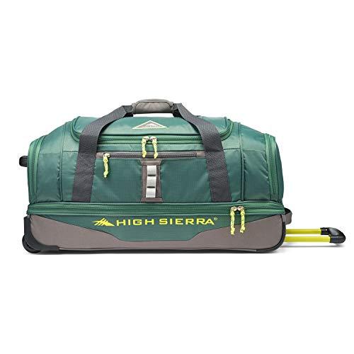 High Sierra Pathway 28-Inch Wheeled Drop-Bottom Duffel - Extra-large Rolling Duffel Bag with Wheels - Men's Wheeled Duffel Bag with Retractable -