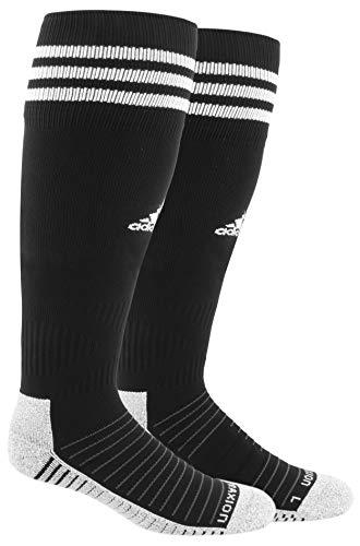 adidas Unisex Copa Zone Cushion IV Soccer Socks (1-Pair), Black/White, 9C-1Y
