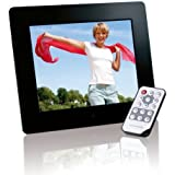 Intenso Photobase Digitaler Bilderrahmen (20,3cm (8 Zoll) Display, SD Kartenslot, Fernbedienung) schwarz
