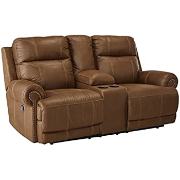 Ashley Furniture Signature Design - Austere Recliner Loveseat with Console - Pull Tab Manual Reclining -  sc 1 st  Amazon.com & Amazon.com: Ashley Furniture Signature Design - Austere Recliner ... islam-shia.org