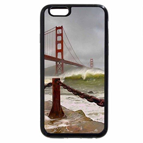 iPhone 6S / iPhone 6 Case (Black) Golden Gate Bridge in Stormy Weather