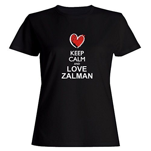 Price comparison product image Idakoos Keep Calm and Love Zalman Chalk Style - Male Names - Women T-Shirt