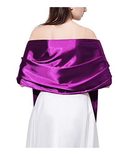 Satin Shawl Wrap Scarf Evening Dresses Long Neckerchief Women Head-scarf JW19