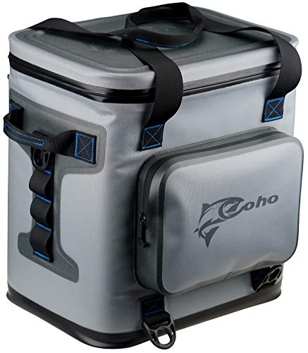 Coho Soft Sided Insulated Cooler - Fits 24 Cans + Ice - 14.37 x 12.01 x 15.16 - Pack Soft Sided Insulated Cooler