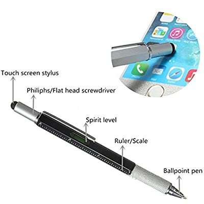 1Pcs Magnetic Wristband with Super Strong Magnets for Holding Screws, Nails, Drill Bits,Add 1Pcs Multifunction Touch Screen Pen With Ruler,Spirit Level,Stylus Pen, Philips and Flathead Screwdriver